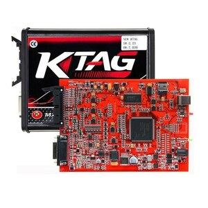 Image 5 - الاتحاد الأوروبي الأحمر KESS V2.53 5.017 KTAG V2.25 7.020 النسخة عبر الإنترنت LED BDM الإطار BDM التحقيق 22 قطعة KESS 2.53 KTAG 4LED وحدة التحكم الإلكترونية البرمجة