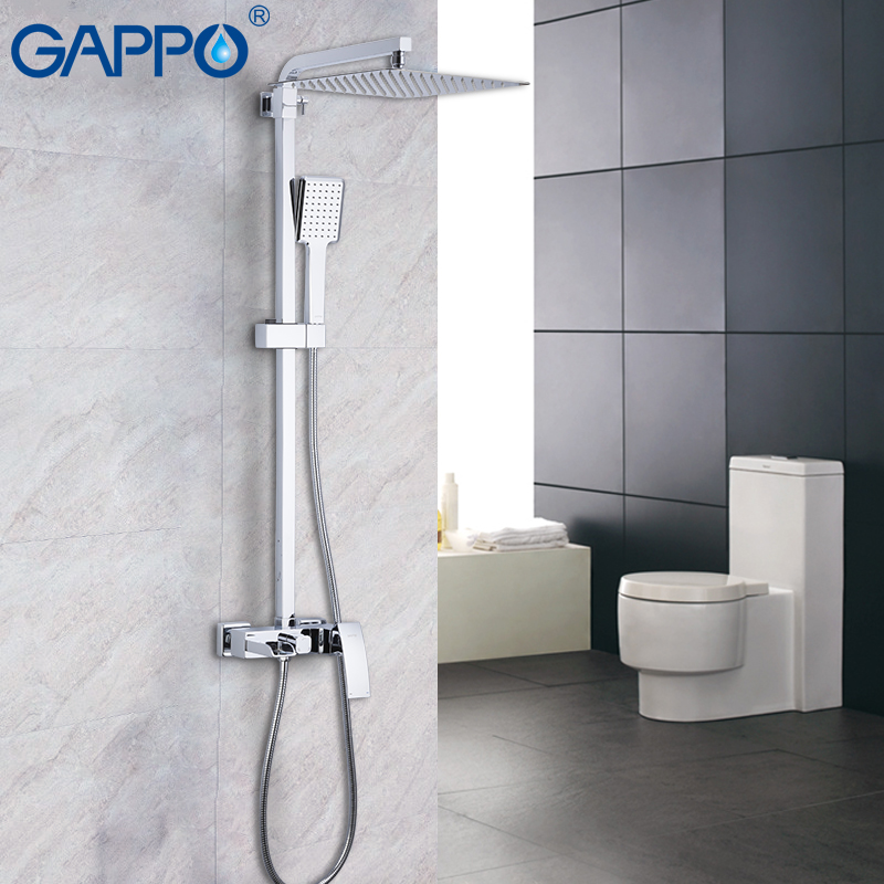 купить GAPPO shower faucet tap bathroom shower set bath mixer faucet set rain shower taps wall waterfall faucet mixer bath по цене 13598.14 рублей