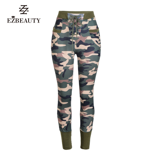2016 Print Leggings Women Fitness Autumn Winter Pants Workout Clothes For Womens Bandage Camouflage Long Pant Camo