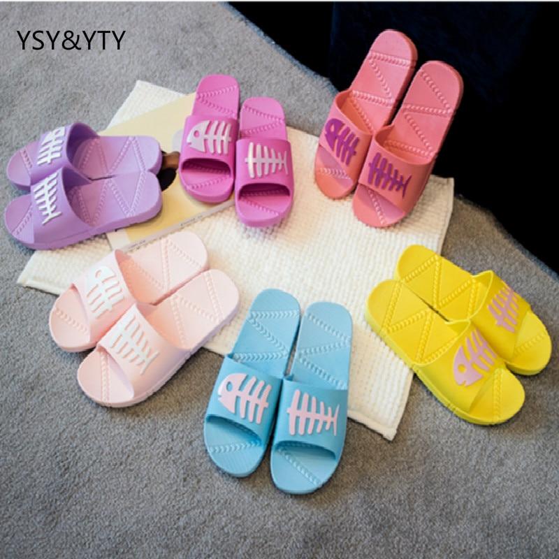 2018 pantofla banjo femra brendshme verore shtëpi te rrëshqitshme çift te dendur fund dore plastike sandale te ftohta sandale grua grua