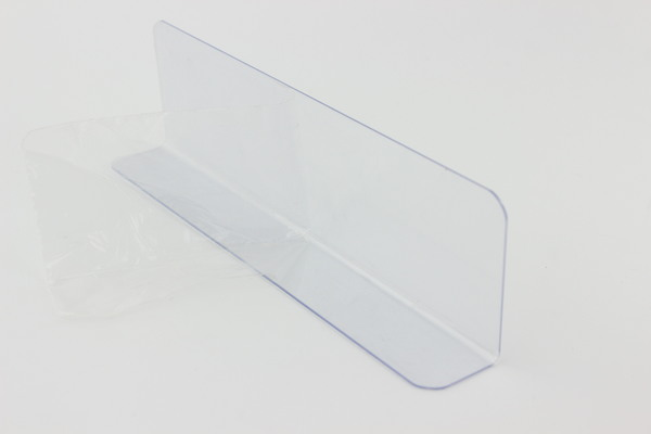 300mm Plastic L shape commodities divider fixture shelf merchandise guard strip accessories guard rail divider strip