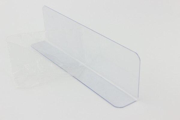 300mm Plastic L shape commodities divider fixture shelf