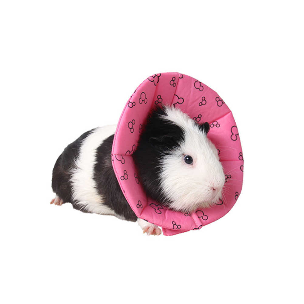 Small Pet Elizabeth Collars Circle 18cm Hamsters Protective Neck Wound  Healing Medical Anti Bite Recovery Edge Scratching Shield