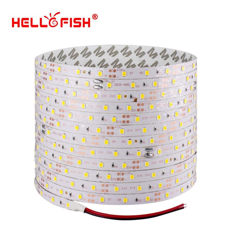 Hello Fish 5m 300 LED 2835 SMD LED strip, 12V flexible light 60 led/m LED tape IP20 RGB/ ...