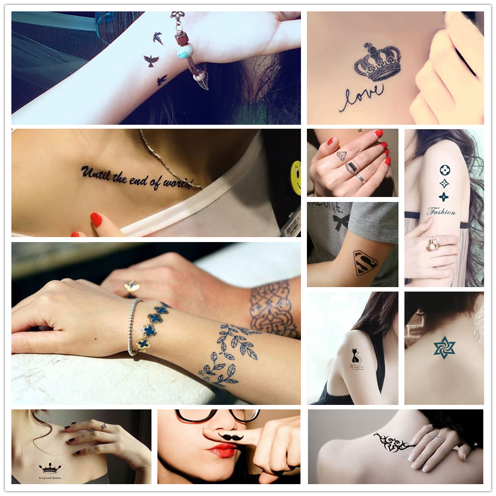 Cross Design Hollow Out Tattoo Stencils For Women Body Art Arm Legs Feet Hands Tattoo Template Stickers For Henna Cones HG70
