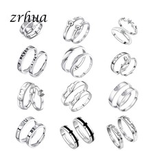 ZRHUA High Quality Original 925 Sterling Silver Rings for Men Women Daily Finger Anel Accessories Sterling-Silver-Jewelry Anillo(China)