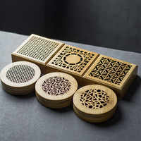Bamboo Round Zen Incenso Burners Sandal Incense Holder Round sandalwood Censer Classical Hollow Incense Lore Living Room Decor