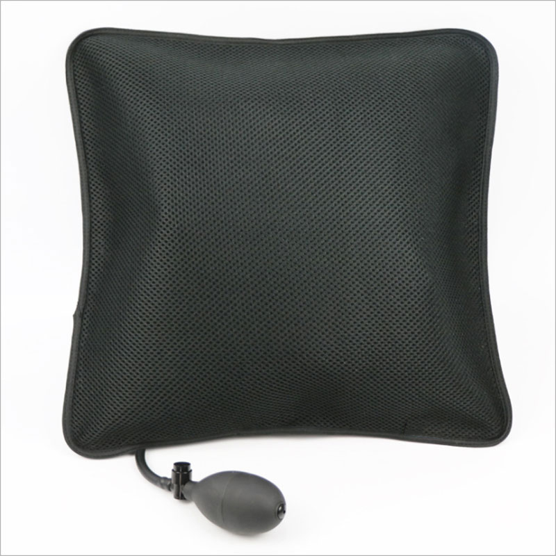 Air Inflatable Pillow Portable Lumbar Support Backrest Cushions with Pump for Home, Office, Travel and Car