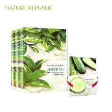 Nature Republic korean Sheet Masks Green Tea Moisturizing Oil Control Black Head Remover Wrapped Mask Face Care