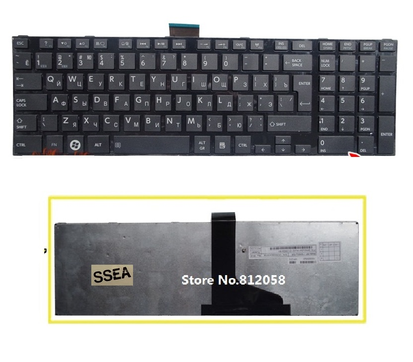 SSEA New laptop RU Keyboard for Toshiba satellite C850 C855 C870 C875 L875 L850 L850D L855 L950 L955 Russian Keyboard image