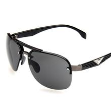 Sunglasses Men Fashion High Quality Retro Big Frame Personality Atmosphericfrog Mirror Metal Frame Anti-UV Sunglasses 2019 New