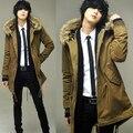 Осень тонкий верхняя одежда мужской ватные куртки мужской средней длины пальто мужская одежда хлопка-ватник