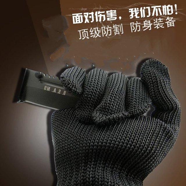Durável multi-purpose grau 5 fio de aço reforçado profissional luvas resistentes ao corte de proteção auto-defesa