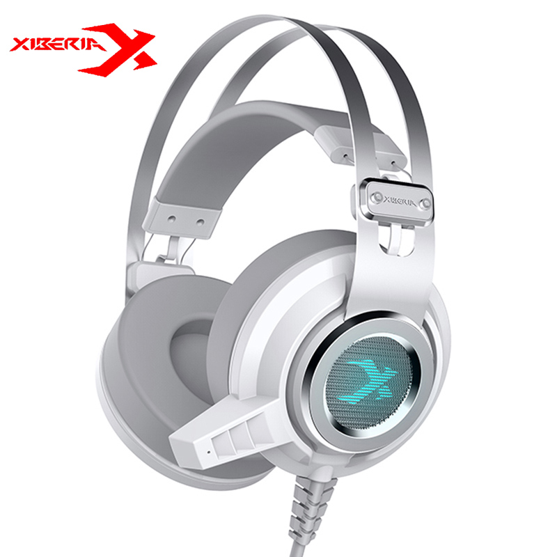 Original XIBERIA V2 LED Gaming Headphones With Microphone Mic USB Vibration Deep Bass Stereo PC Gamer Headset Gaming Headset xiberia t19 usb 7 1 vibration gaming headset headband headphones with microphone deep bass led light gaming headphones for pc