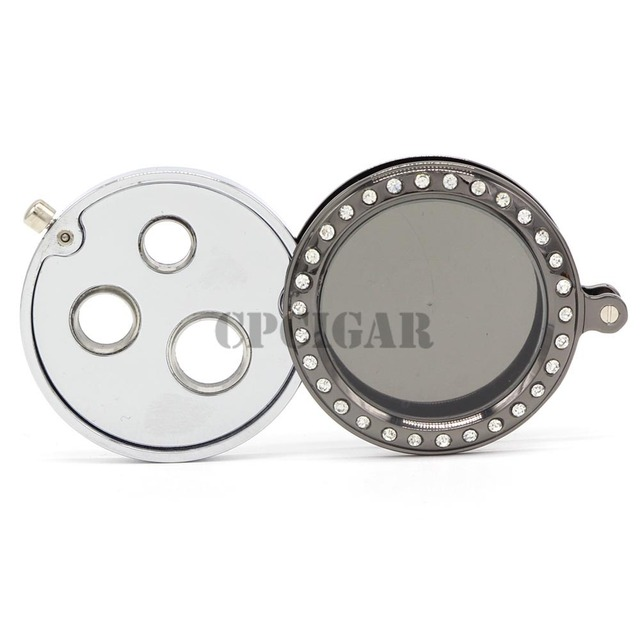 GALINER  Professional Cigar Punch Cutter Portable Round Metal Cigar Cutter with 3 Size Cigars Punches Rotated Case