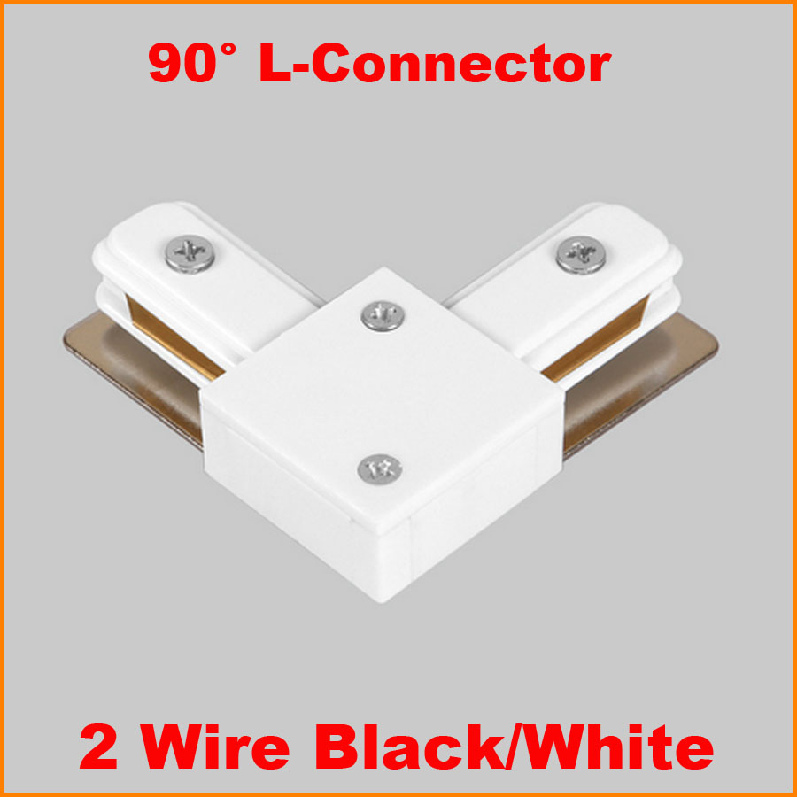 Us 4 99 Led Track Light Rail Connector Lighting Ing L Shape Connectors Aluminum Accessories Black White In