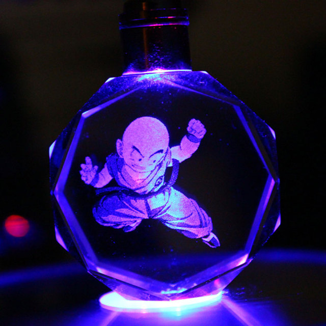 Dragon Ball Z Crystal Ball Led Key Rings