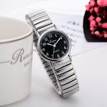 LVPAI damski zegarek analogowy kwarcowy sukienka pasek ze stali nierdzewnej zegar prezent moda elastyczny teleskopowy damski zegarek z paskiem nowy XB40
