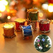 3/5cm 12/6pcs Laser Holiday Festival Drum Designed Ball Xmas Tree Hanging