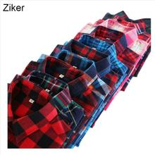 Ziker M-5XL Autumn Winter Plaid Shirt Female College style women's Blouses Long Sleeve Flannel Shirt Cotton Blusas Office tops