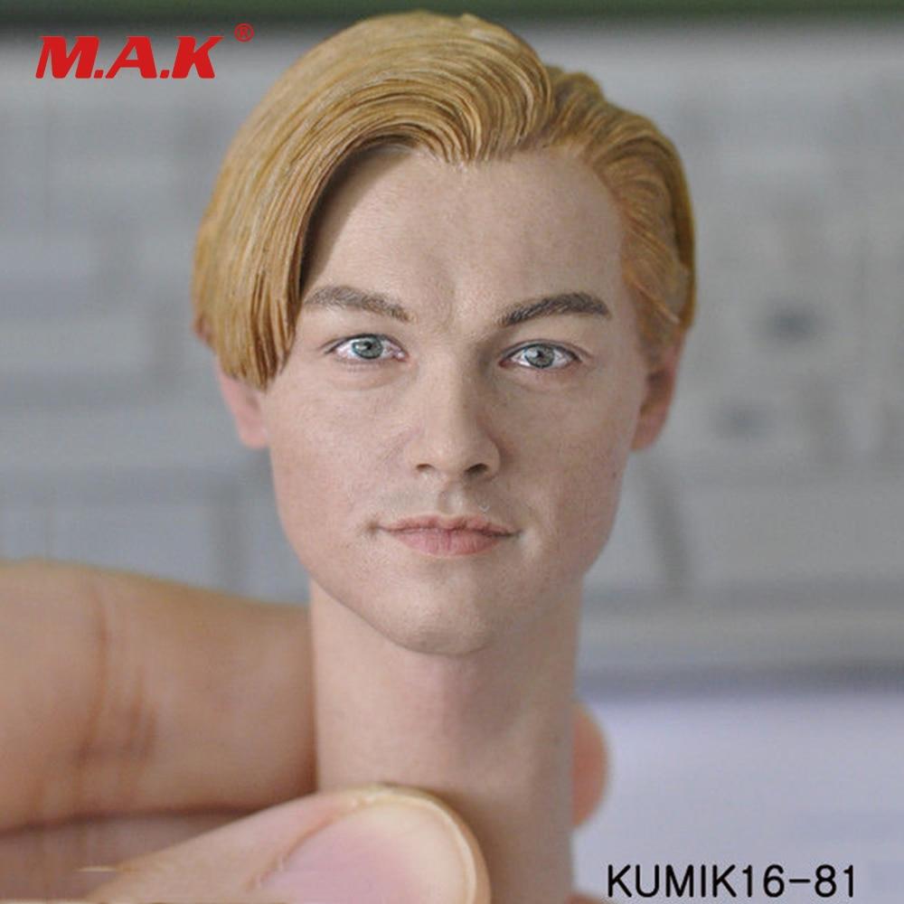 1:6 Scale Man Head Sculpt Carving Model KUMIK16-81 Leonardo Sculpt Model with Neck for 12 Man Action Figure Body 1 6 stairs batman robin detective blake joseph gordon blake head sculpt carving for hot toys body for 12phicen action figure