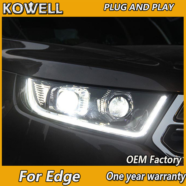 Kowell Car Styling For Ford Edge Headlights  New Edge Led Headlight Drl Daytime