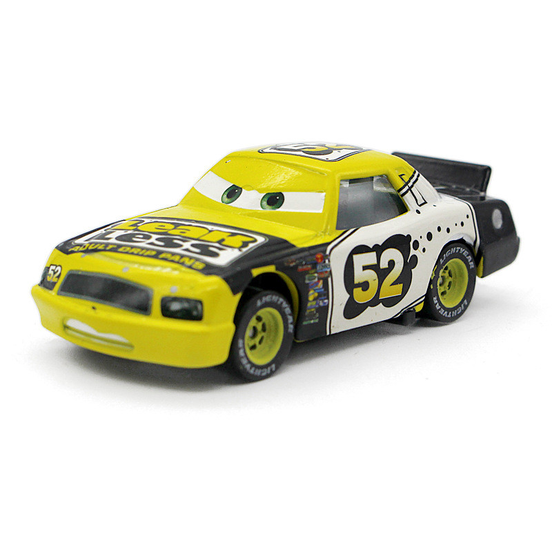 Pixar Cars No.52 Leak Less Diecast Metal Toy Car For Children 1:50 Loose Brand New In Stock Yellow McQueen Racing Car