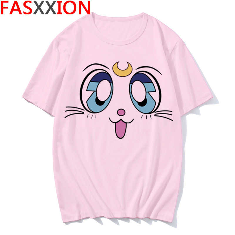 Kawaii Sailor Moon T Shirt Sommer Frauen T-shirt Ullzang Harajuku Süße Drucken Lose Kurzarm Plus Größe T-shirt Weibliche Top tees