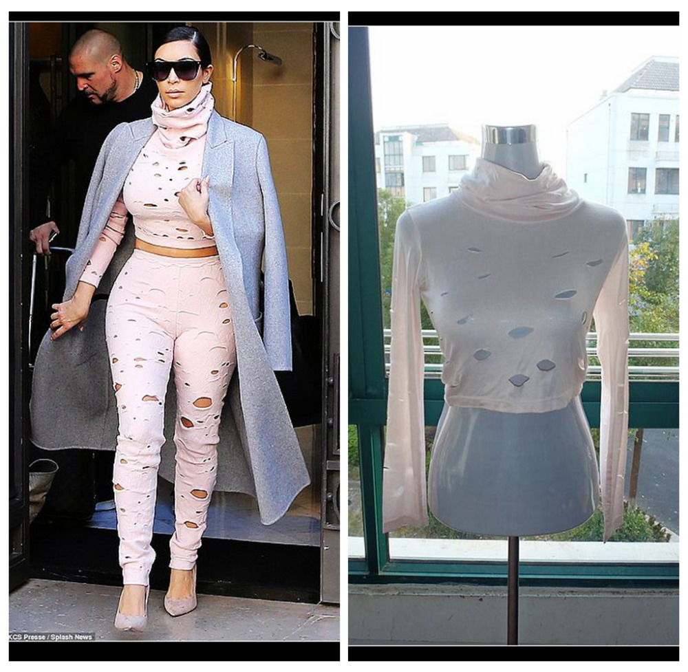 blouse fabric Picture - More Detailed Picture about kim kardashian ...