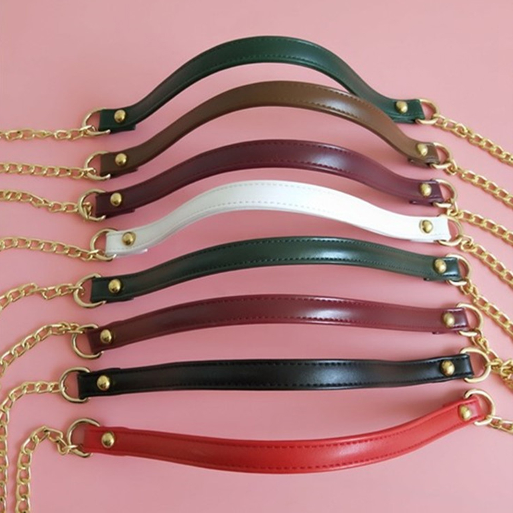 120cm Pu Metal Chain For Shoulder Bags Handbag Buckle Handle DIY Candy Color Belt For Bag Strap Accessories Hardware Iron Chain