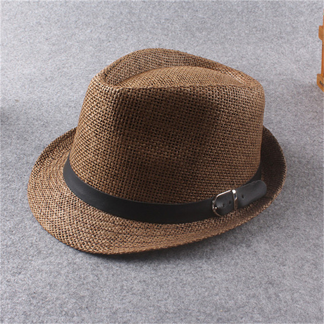 Unisex Women Men Casual Fashion Hat Mens Summer Style Adult Sun Hat Beach  Vocation Sunhat Fedora 7caf9de82869