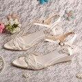 Wedopus Пользовательские Ручной Модный Клин Сандалии Дамы Женщин Свадебные Туфли 3.5 СМ Каблук