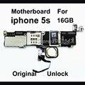 16 gb original com touch id para iphone 5s motherboard, desbloqueado bom trabalho Mainboard Logic Board Peças de Reposição