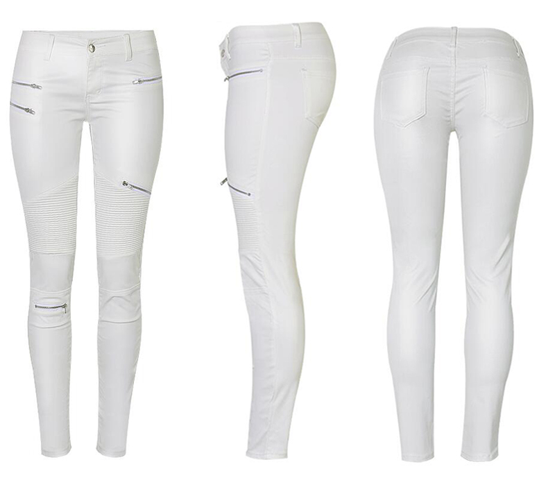 19 Winter Plus Size Stretch PU Leather Pants For Women High Waist Joggers Womens Trousers Pencil Skinny Waisted Female Pants 31