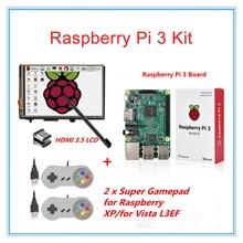 Raspberry Pi 3 Model B+3.5″ LCD HDMI Touch Screen+2 Raspberry PI USB Gamepads for XP/for Vista L3EF