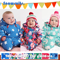 0-24 M Romper Do Bebê Recém-nascido da Primavera casaco de inverno Quente Snowsuit Macacão de Inverno das crianças Do Bebê Bonito Do Bebê Com Capuz macacão de Bebê Romper
