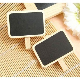 4pc/lot New blackboard wooden clip,wooden message clip, Memo Clip board Lovely stationery (SS-1248)
