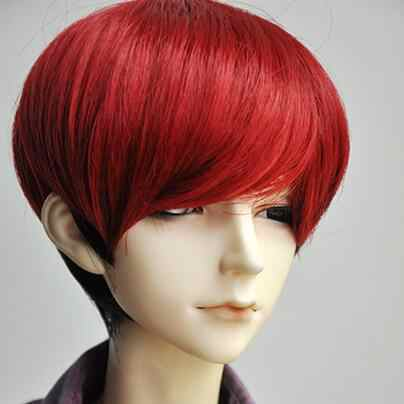 "Новинка 1/3 BJD SD кукла 8-9 ""21,5-23,5 см голова куклы Черная микс красная красивая кукла из меха парик"
