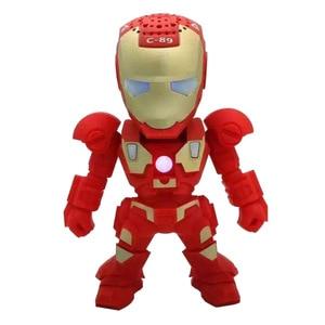 Image 4 - Portable Mini Speaker Iron Man Bluetooth Wireless Speakers with LED Flashing Light Stereo Hifi Sound Box TF USB MP3 Player
