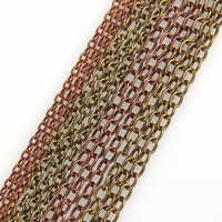 5 m/lote 0.9x6x5mm ferro colar correntes bronze antigo/antigo vermelho cobre cor em massa rolo correntes para pulseiras jóias diy fazendo