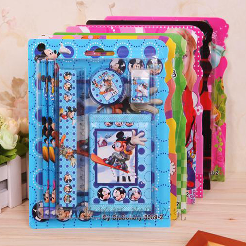 2019 Creative Stationery 1pcs Children suit wallet pencil stationery stationery set children stationery portfolio of new prizes