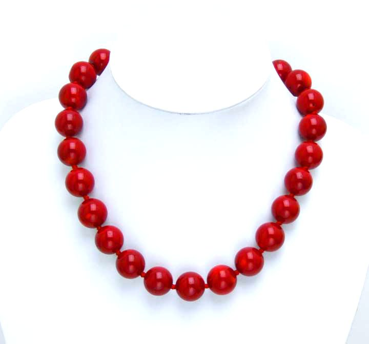 Infrequent! Huge 15-16MM high quality perfect Round GENUINE NATURAL Red Coral Necklace-nec5221 Wholesale/retail Free shippingInfrequent! Huge 15-16MM high quality perfect Round GENUINE NATURAL Red Coral Necklace-nec5221 Wholesale/retail Free shipping