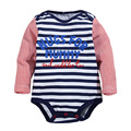 2016 new winter baby clothing cotton striped long-sleeved cotton baby clothes bag fart climbing clothes Romper