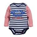 2016 novo inverno roupas de bebê de algodão roupas de bebê de algodão listrado longo-manga saco peido escalada roupas Romper