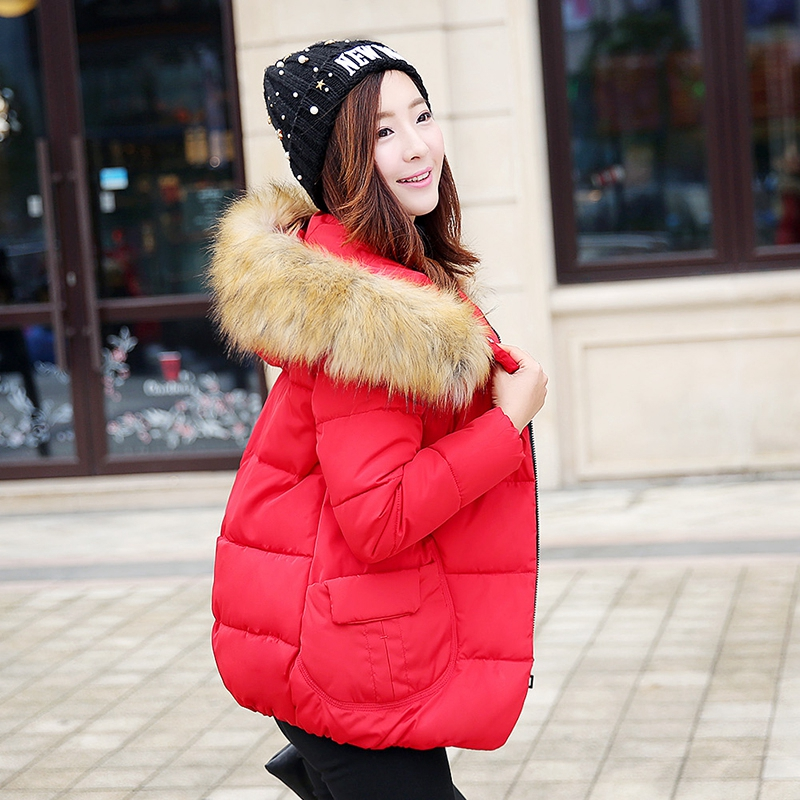 Hot 2017 Casual Hooded Fashion Winter Brand Women Fur Collar Down Coat Cotton Thick Outwear Warm Parka Female Short Jacket P896