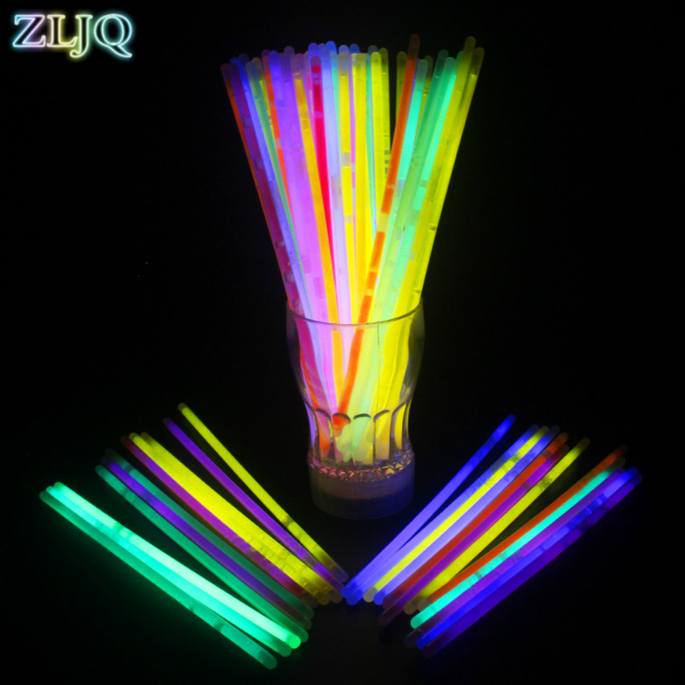 zljq flash stick 100pcs batch led light bar lights led lights multicolor lights