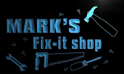 x0014-tm Marks Fix-it Shop Repairs Custom Personalized Name Neon Sign Wholesale Dropshipping On/Off Switch 7 Colors DHL
