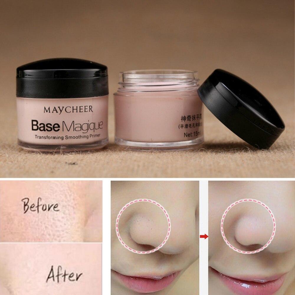 primer de maquiagem corretivo duradouro controle de oleo cobertura de poros rugas corretivo facial base cosmetica