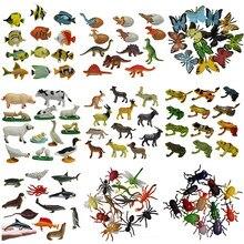 Animais marinhos selvagens dinossauro fazenda insetos pequenos animais simulação animal modelo brinquedo figuras de ação conjunto estatuetas brinquedos