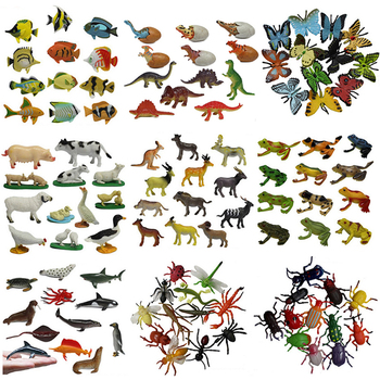 Wild marine animals Dinosaur farm insects small animal Simulation Animal Model Toy Action Figures Set Figurines Toys sonny angel baby animal pvc action figures marine ocean life candy series kewpie model figurines collectible dolls kids toys